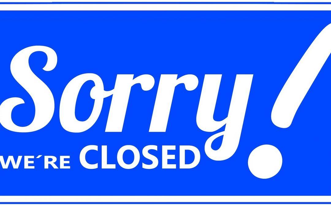 Olemme poikkeuksellisesti suljettuna lauantaina 14.4.2018