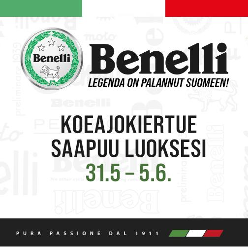 Benelli koeajokiertue saapuu meille 4.6.2021. Tule koeajamaan legendan uutuudet